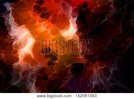 Color abstract background. Lava structure. Computer collage. Earth Concept
