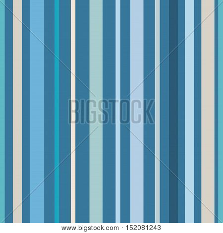 Seamless pastel blue stripes pattern. Abstract vector background.