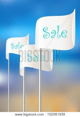 Flags for sales actions. Vector EPS10 illustration.