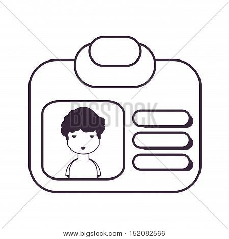 identification card with photo and personal information. id card design. vector illustration