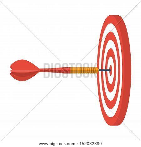 Dart Hitting Target.