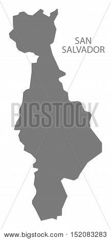 San Salvador El Salvador Map grey illustration high res