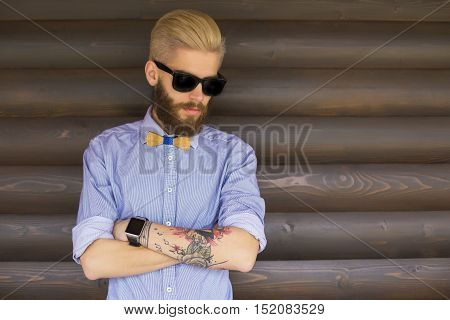 Hipster With Crossed Arms