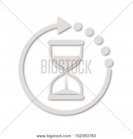 Simple vector Hourglass icon on white background