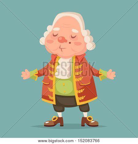Noble medieval aristocrat mascot cartoon vector illustration