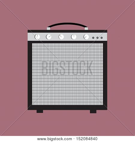 Guitar amplifier vector illustration flat music loud