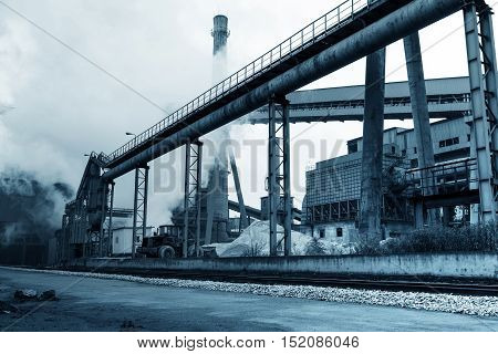 Iron and steel industry landscape Shanghai China.