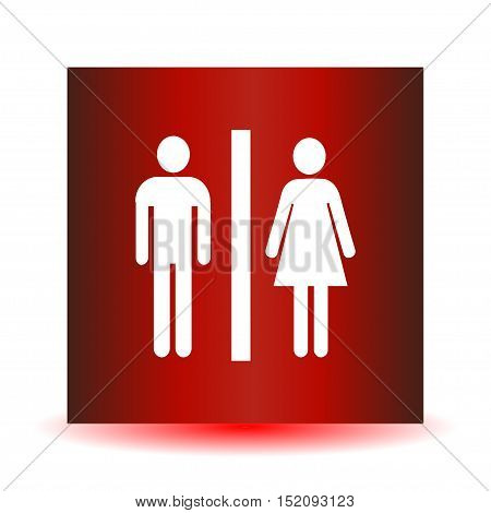 Man and lady toilet sign. .Vector illustration