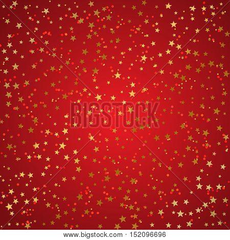 Christmas background of metallic gold stars