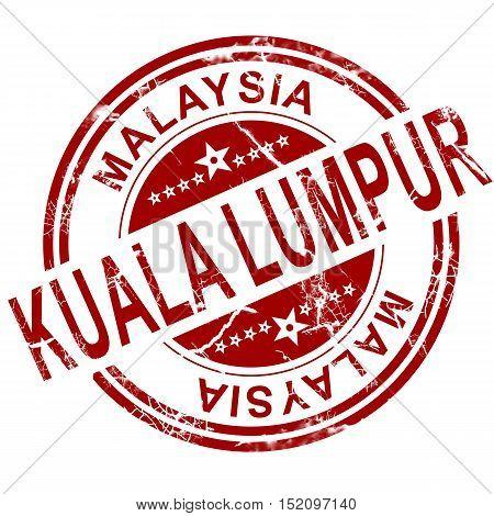 Red Kuala Lumpur Stamp