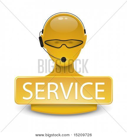 An image of a yellow service web icon