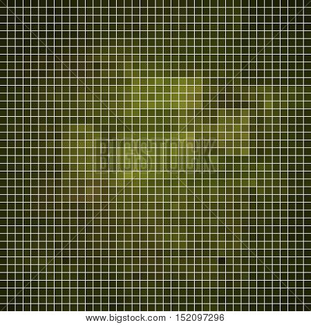 abstract vector square pixel mosaic background - dark green