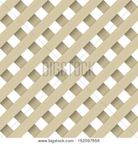 Seamless texture of wooden lattices or blinds bars. Vector graphics