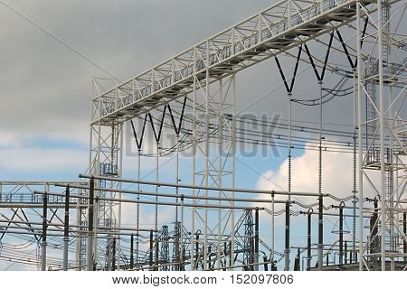 Electric line switching and transformer staion