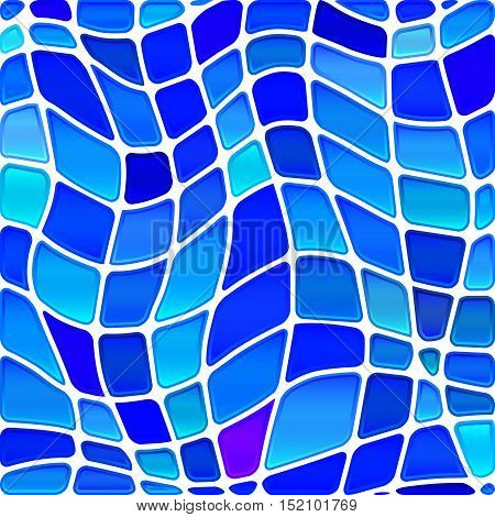 abstract vector stained-glass mosaic background - light and bright blue
