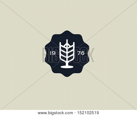 Brewery logotype. Beer logo design template. Pub modern symbol. Stylized mug of beer badge emblem