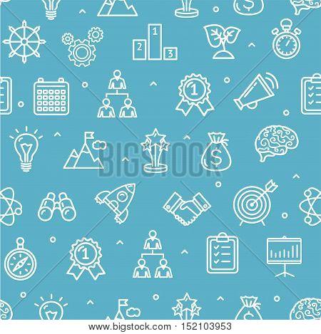 Start Up Motivation Brainstorming Background Pattern. Pixel Perfect Art. Material Design. Vector illustration