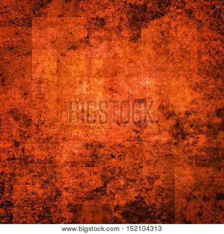 abstract colored scratched grunge background - bright orange