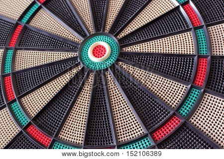 low angle view of a dart board