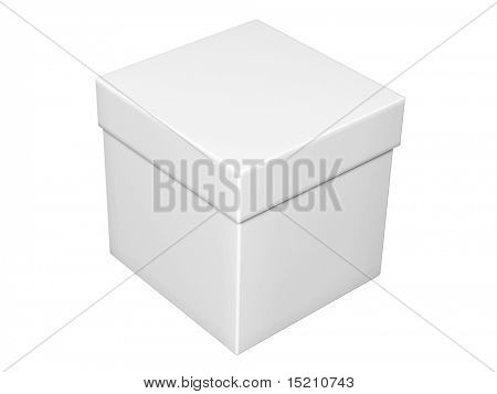 gray box with cover isolated on white