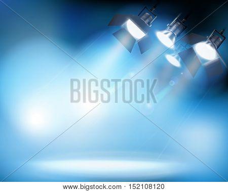 Spotlighting. Vector illustration.