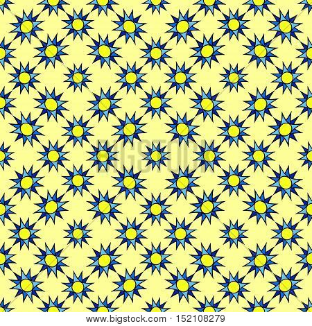 Seamless yellow stars pattern. Vector illustration. Design element for brochure, advertisements, web and other graphic designer works.