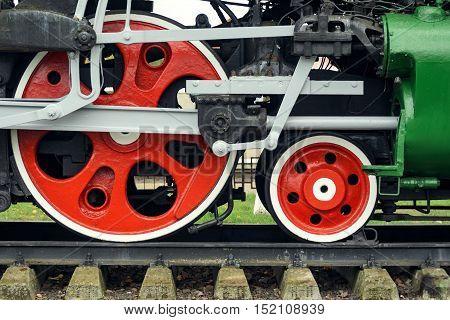 Red Big Loco Wheels