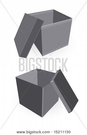 vector opened cardboard box