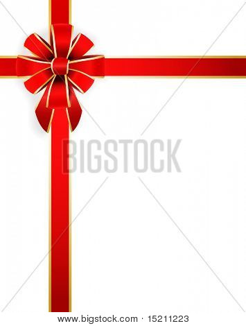 vector red bow isolated on white