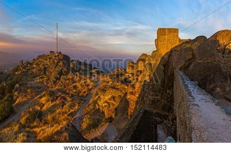 Fort in Village Monsanto - Portugal - architecture background