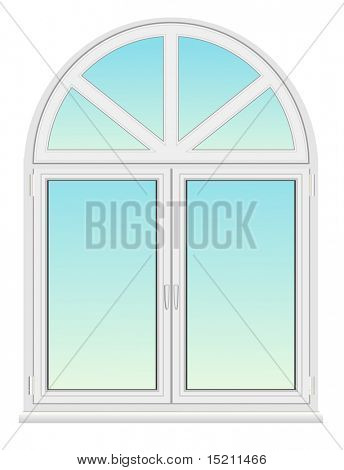 vector arc plastic window isolated