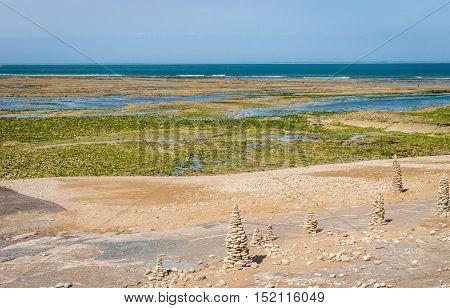 Atlantic coast on the island of Ile de Re . Arrondissement La Rochelle. Department Charente-Maritime.