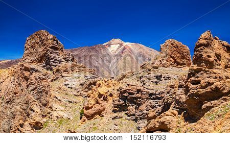 rocks at the volcano Teide National Park Tenerife Canary Islands Spain