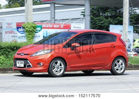 CHIANGMAI THAILAND - OCTOBER 6 2016: Private car Ford Fiesta. Photo at road no.121 about 8 km from downtown Chiangmai thailand.