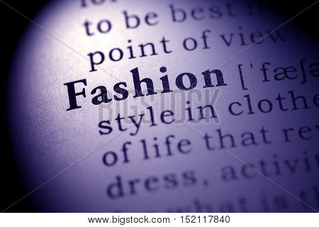 Fake Dictionary definition of the word fashion.