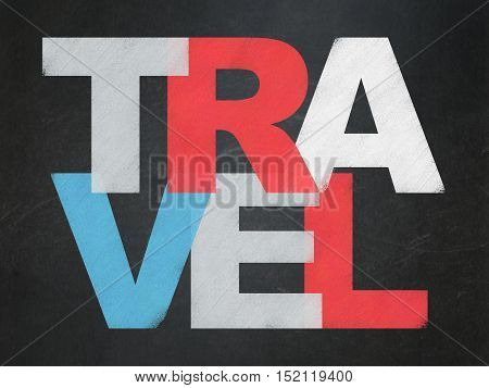 Travel concept: Painted multicolor text Travel on School board background, School Board