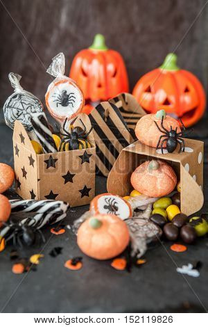 Sweets and candy for a Happy Halloween