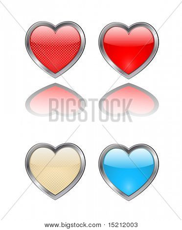 vector heart button