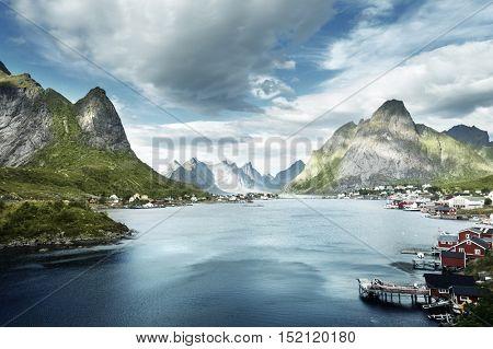 summer day, Reine Village, Lofoten Islands, Norway