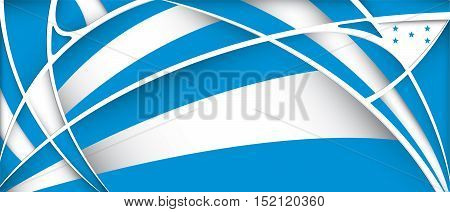 Abstract background with colors of Honduras flag - Vector image