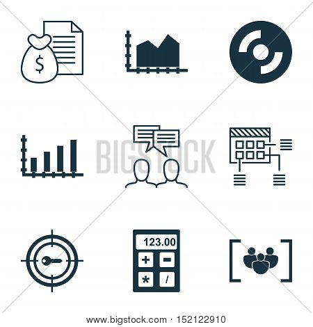 Set Of 9 Universal Editable Icons For Education, Seo And Computer Hardware Topics. Includes Icons Su