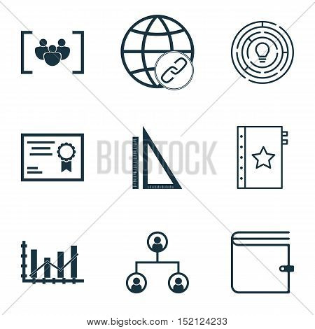 Set Of 9 Universal Editable Icons For Marketing, Human Resources And Project Management Topics. Incl