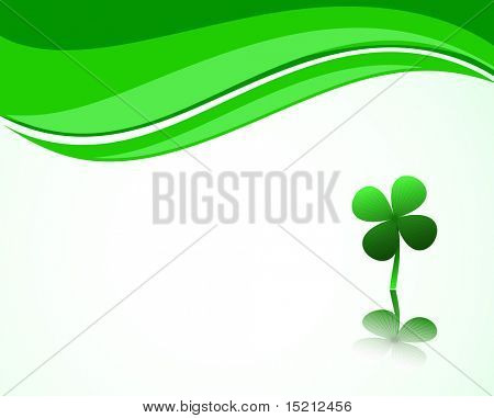 vector clover on wave  background