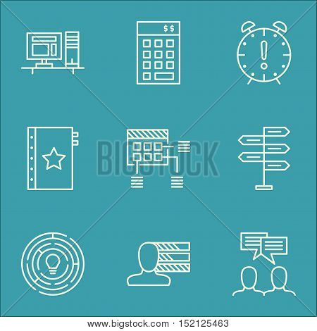 Set Of Project Management Icons On Personal Skills, Investment And Schedule Topics. Editable Vector