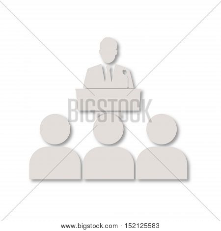 Simple Vector Speaker icon on white background