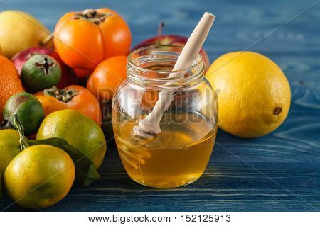 Rose Hips Tea With Ginseng , And Honey With Lemon ,products Containing Vitamin C ,lifestyle