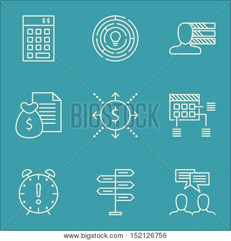 Set Of Project Management Icons On Report, Innovation And Investment Topics. Editable Vector Illustr
