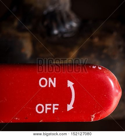 The Red Lever On Off Switch  Dark Background