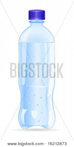 vector plastic bottle of water