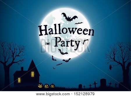 Halloween Party Background Vector Template Halloween Party Background Vector Template